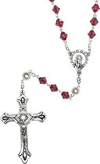 Catholic Prayer Rosary Made with Swarovski Crystals - Communion, Confirmation, RCIA, Birthday, Christmas, Easter