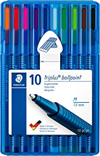 STAEDTLER 437 MSB10 Triplus Ballpoint Pen - Multi-Colour (Pack of 10)