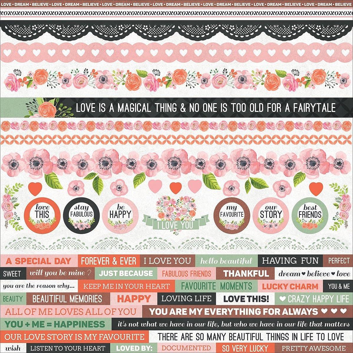 True Love Cardstock Stickers 12