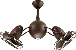 dual head rotational ceiling fan