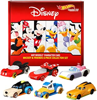 Hot Wheels Disney Bundle Vehicles 6-Pack Toy Vehicles Exclusive Daisy Character Car Gift Idea Ages 3 and older