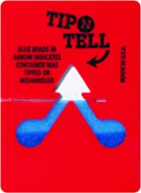 Partners Brand PTNT100 Tip-N-Tell Indicator, Red (Pack of 100)