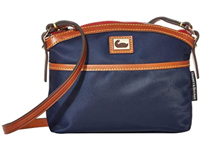 Dooney & Bourke Camden Domed Crossbody (Navy/Dark Chocolate Trim) Cross Body Handbags