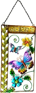 Bejeweled Display® Large Butterfly w/Stained Glass Welcome Signs & Wall Art 27
