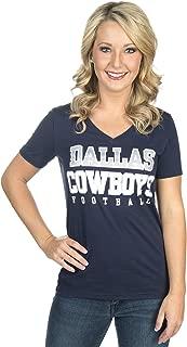 Dallas Cowboys Women's Practice Glitter Tee