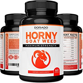 Horny Goat Weed Herbal Complex Extract for Men and Women - Maca Root, Ginseng, Yohimbine, Tongkat Ali, Muir...