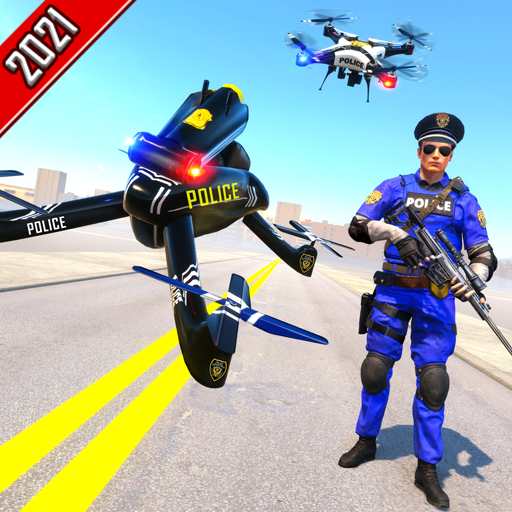 Miami Crime City Gangster Squad Chase Mission 2020 - Futuristic US Police Flying Drone Bike...