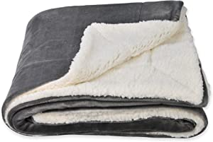 SOCHOW Sherpa Fleece Throw Blanket, Double-Sided Super Soft Luxurious Plush Blanket Throw Size, Grey