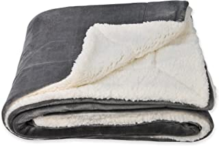 SOCHOW Sherpa Fleece Throw Blanket, Double-Sided Super Soft Luxurious Plush Blanket Twin Size, Grey
