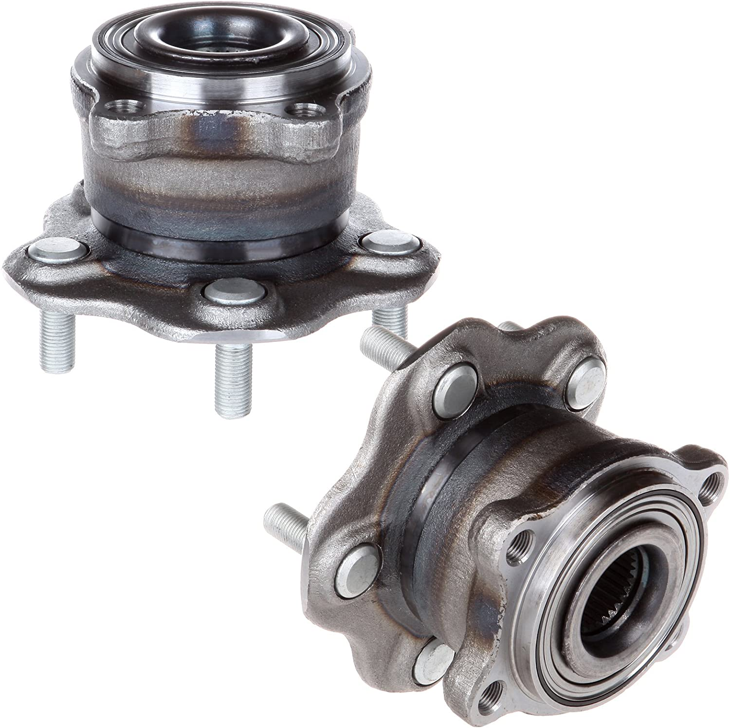 Pack of 1 OCPTY New Wheel Hub Bearings Rear Axle 5 Lugs with ABS Compatible for Infiniti EX35 G25 M35H Q70 370Z 2007-2017 OE 512151