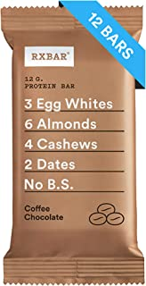 RXBAR, Coffee Chocolate, Protein Bar, Breakfast Bar, High Protein Snack, 1.83 Ounce, Pack of 12
