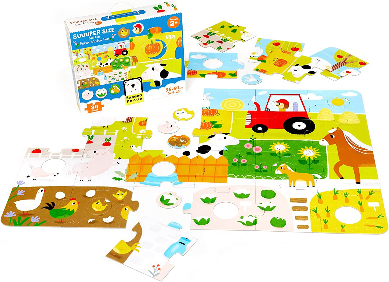 Banana Panda - Farm Match Regular store Fun Puzzle Floor Suuuper Size 1 year warranty Large