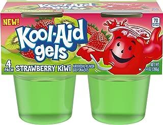 JELL-O Kool-Aid Strawberry Kiwi Gels Gelatin, 14 oz Cup (Pack of 6)