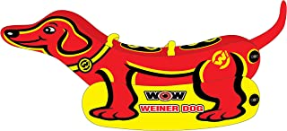 WoW Watersports Weiner Dog, Towable Tube, Large Side Pontoons for Easy Boarding