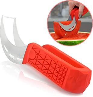 Watermelon Slicer & Cutter by Sleeké – New Extended Silicone Cushioned Handle..
