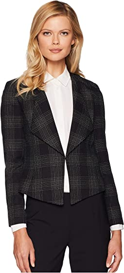 Novelty Plaid Open Jacket