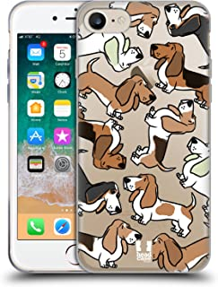 Head Case Designs Basset Hound Dog Breed Patterns 2 Soft Gel Case Compatible for iPhone 7 / iPhone 8