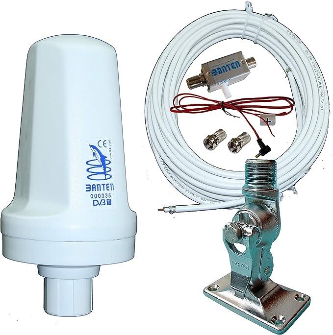 Banten Pack de Antena TDT 00335 Omnidireccional con Montaje en Superficie Nylon