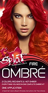 Frankel & Frankel Splat Rebellious Colors Hair Coloring Complete Kit Fire Ombre(pack Of 1), 2.4 Oz