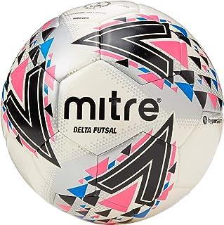 Mitre Delta Futsal Balón de fútbol, Unisex Adulto, Blanco y Rosa, 3