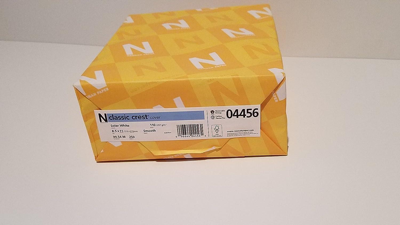 Neenah 110lb Classic Crest Cardstock 8.5 X11    250 Pkg-Solar Weiß, MSRP  .22 Per B000JFDE5Y    | Billiger als der Preis  e3b106