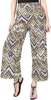 YiyiLai Women Split High Waist Flowy Beach Wide Leg Trousers Long Pants
