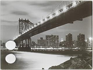 Bridge Wenko 50472100 Manhattan-Caja con llave magnética con 7 ganchos, cristal, 20x15 cm
