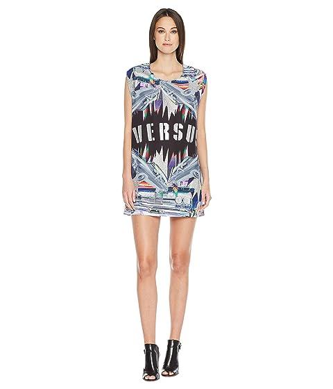 Versace Black Stampa Donna Camiseta Versus RqwAxvdv
