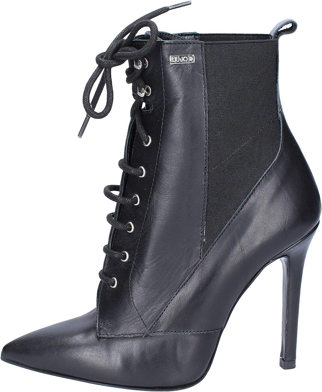 Liu Jo Damen schwarz Leder Stiefeletten 42d74ccuk52834 Neue