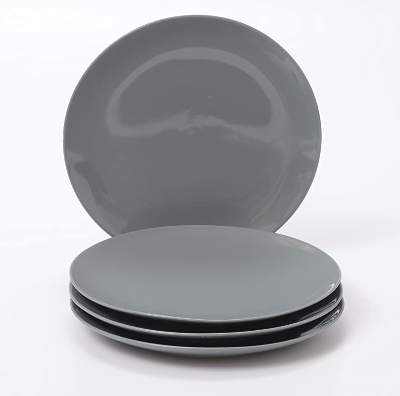 O Ware Gray Stoneware 10 Inch Dinner Plate Set Of 4