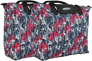 Kuber Industries™ Waterproof Foldable Shopping Handbag, Travel Bag (Color & Print May Vary as per Availability) Set of 2 Pc
