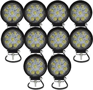Faros antiniebla LED, 27W de Auxtings, para todoterreno, camioón, SUV, 10 unidades