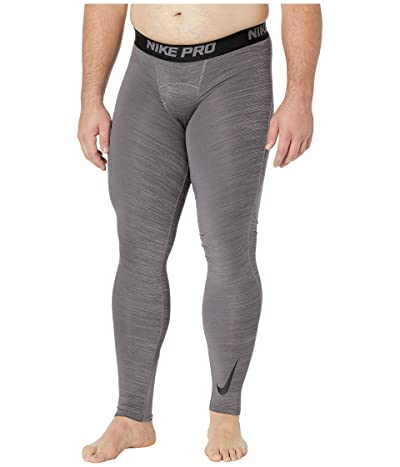 Nike Big Tall Pro Therma Tights (Gunsmoke/Black/Black/Black) Men