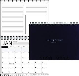 "5-Year Calendar Planner, 2020-2022 Monthly Schedule Organizer Flip Calendar Diary with Tabs, Spiral Bound Top, Black, 8 ½"" Wide x 11"" Long"