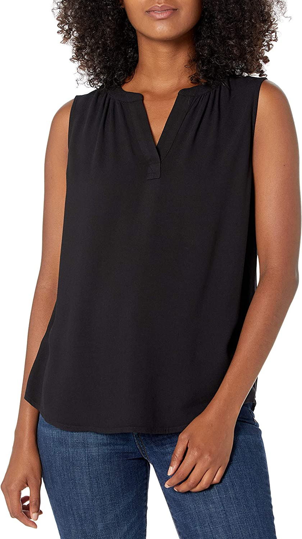 Amazon Essentials Women's Sleeveless Woven Shirt