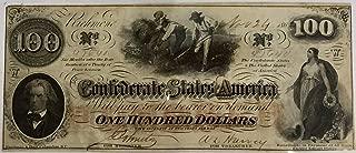 1962 Richmond One Hundred Dollar Confederate Bill