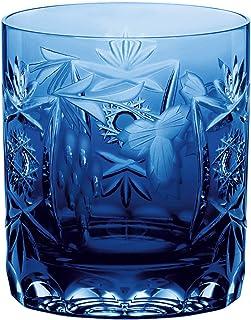 Nachtmann hochwertiges Whiskeyglas Pur Traube, Kobaltblau, Glas, Kristallglas, 9 cm, 35894