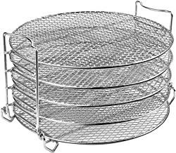 Goldlion Dehydrator Rack Stainless Steel Stand Accessories Compatible with Ninja Foodi Pressure Cooker and Air Fryer 6.5 and 8 Quart