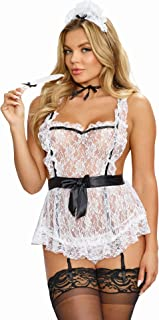 Women's Sexy Maid To Tease French Maid Lingerie Costume Set