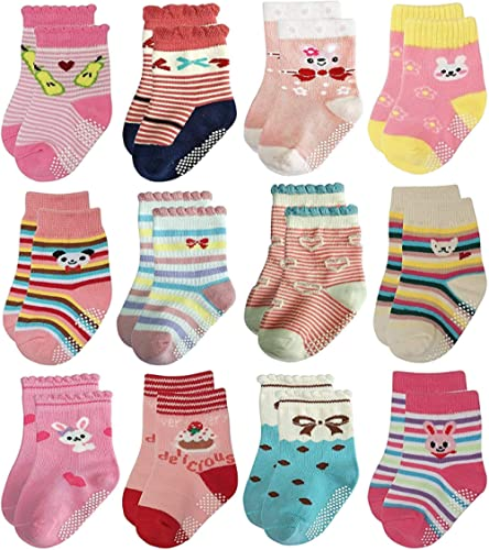 6 Pairs - Trendy Dukaan® Kids Grip Socks Pack of 6 (Colors & Design May Vary) product image
