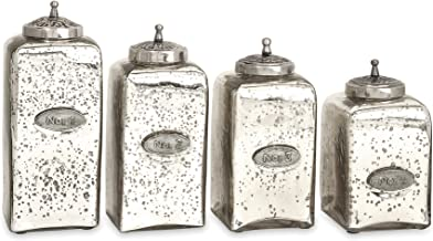 Best mercury glass kitchen canisters Reviews