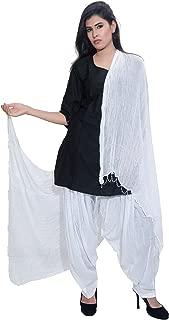 Arva Women Patiala Salwar + Scarf   Patiyala   White   Yoga Dhoti Pants