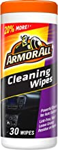 Armor All Car Interior Cleaner Wipes for Dirt & Dust - Cleaning for Cars & Truck & Motorcycle, 30 Count, 17497C