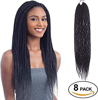 Eerya Senegalese Twist Crochet Hair 8 Packs 18 Inches Short Braids Small Havana Mambo Twist Crochet Braiding Hair Extensions Synthetic High Temperature Senegalese Twists Hairstyles (8 Packs, 2#)