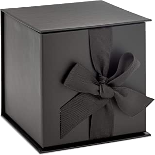 Hallmark Black Ribbon and Paper Fill Small Gift Box with Lid