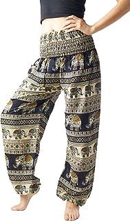 0a3137439244d1 Bangkokpants Women's Harem Pants Bohemian Clothes Boho Yoga Hippie Pants  Smocked Waist