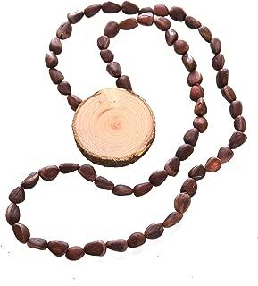 cedar bead necklace