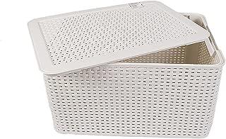 Curver Style, Caja Organizadora, Blanco Vintage, L (30 L - 44x33x23 cm)