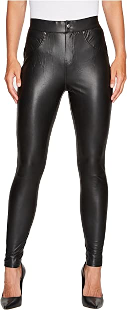 HUE - Leatherette Curvy Leggings