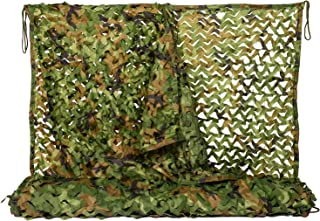 NINAT Woodland Camo Netting Camouflage Net for Camping Military Hunting Shooting Sunscreen Nets 3.25x6.